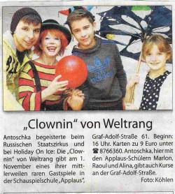 """Rhein-Bote-""""Clowin"""" von Weltrang"""