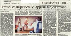 RheinischePost-Private Schauspielschule Applaus für Jedermann